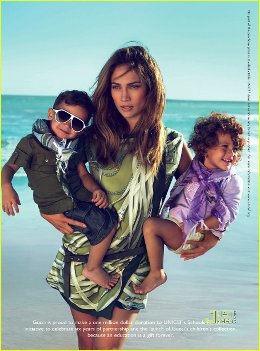 jennifer lopez kids gucci ad. jennifer-lopez-twins-gucci-ads