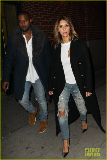 Kim and Kanye match their attire for Kanye's Concert