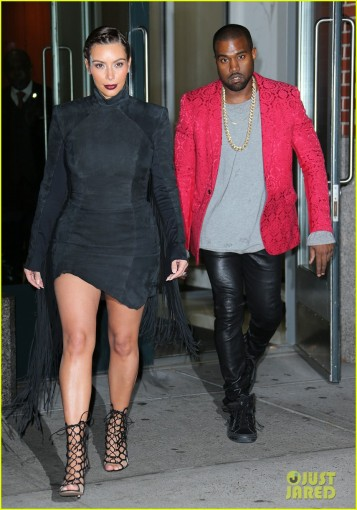 Kim Kardashian and Kanye West head out for Kanye's concert in NYC