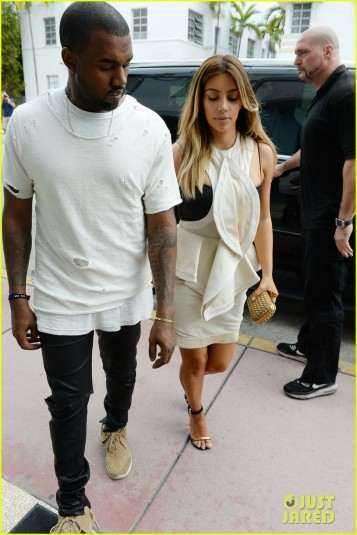 Kim Kardashian And Kanye West Go Shopping In Miami For Black Friday