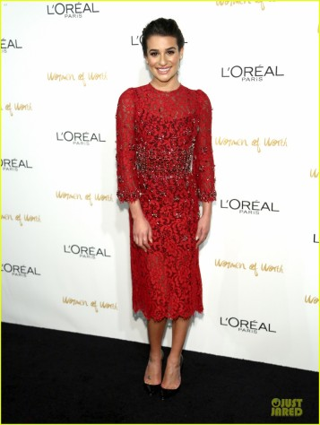lea-michele-red-hot-at-loreal-paris-women-of-worth-01