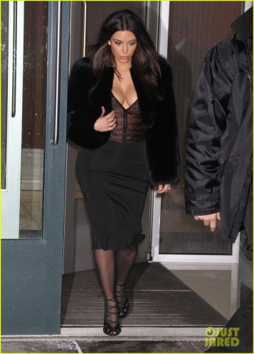 Kim Kardashian in a Low Cut Blouse
