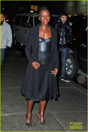 "Lupita Nyong'o has a wardrobe change after  ""Late Show with David Letterman"""