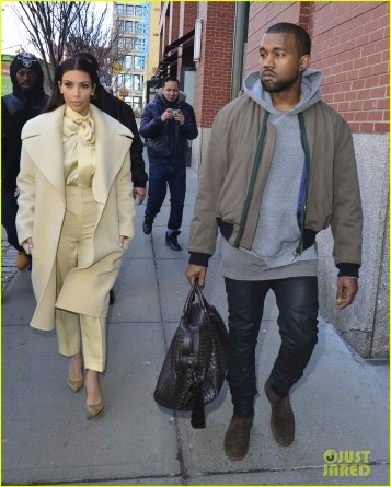 Kim Kardashian and Kanye West out and about in New York City
