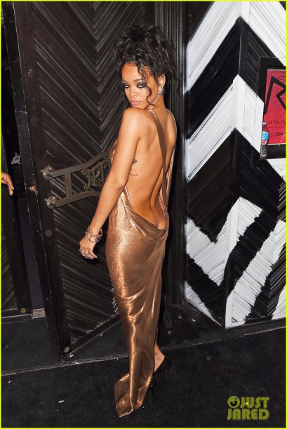 Rihanna is a golden goddess at Up & Down's 2014 Met Gala Afterparty