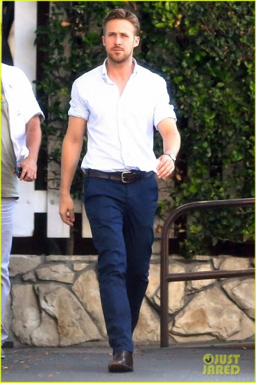 Ryan Gosling Shows Off Tattoo Peaking Under His Rolled Up Sleeves