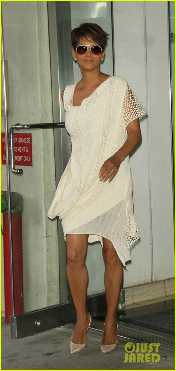 Halle Berry Arrives At CBS Studios In NYC