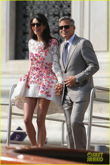 George Clooney and Amal Alamuddin Leave Cipriannis