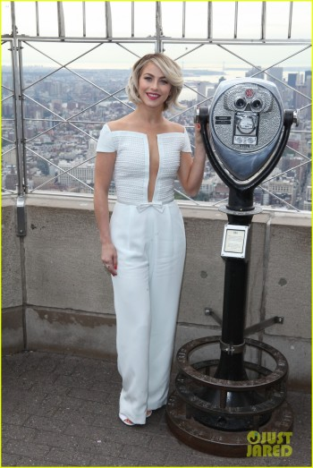 Julianne Hough illuminates the Empire State Building