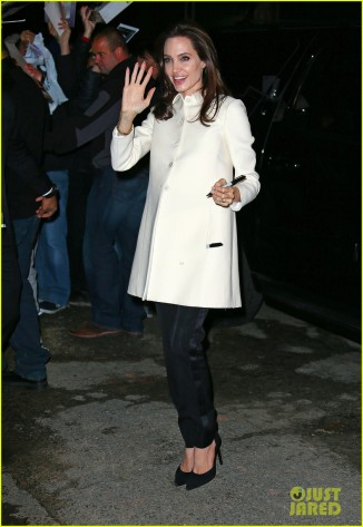 Angelina Jolie arrives at Jon Stewart in NYC