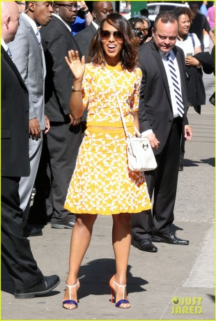 "51729936 Celebrities visit ABC Studios for an appearance on ""Good Morning America"" on May 04, 2015 in New York City, New York. Celebrities visit ABC Studios for an appearance on ""Good Morning America"" on May 04, 2015 in New York City, New York. Pictured: Kerry Washington FameFlynet, Inc - Beverly Hills, CA, USA - +1 (818) 307-4813"
