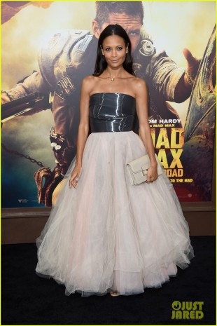 "HOLLYWOOD, CA - MAY 07:  Actress Thandie Newton attends the premiere of Warner Bros. Pictures' ""Mad Max: Fury Road"" at TCL Chinese Theatre on May 7, 2015 in Hollywood, California.  (Photo by Frazer Harrison/Getty Images)"