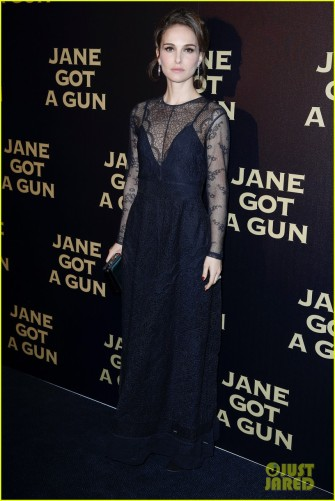 Natalie Portman and Joel Edgerton attends the 'Jane Got a Gun' Paris Premiere At UGC