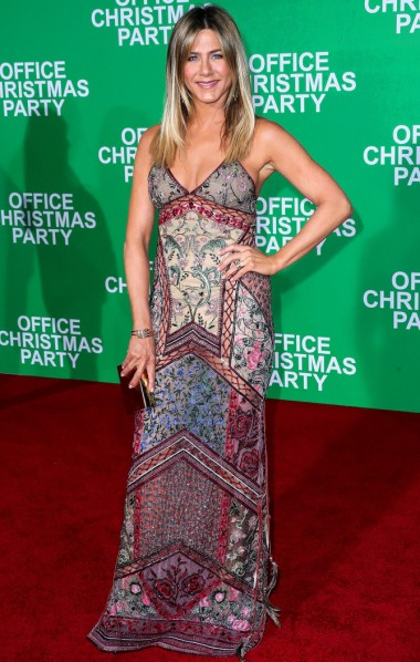 Jennifer Aniston arrives at the Los Angeles Premiere Of Paramount Pictures' 'Office Christmas Party'